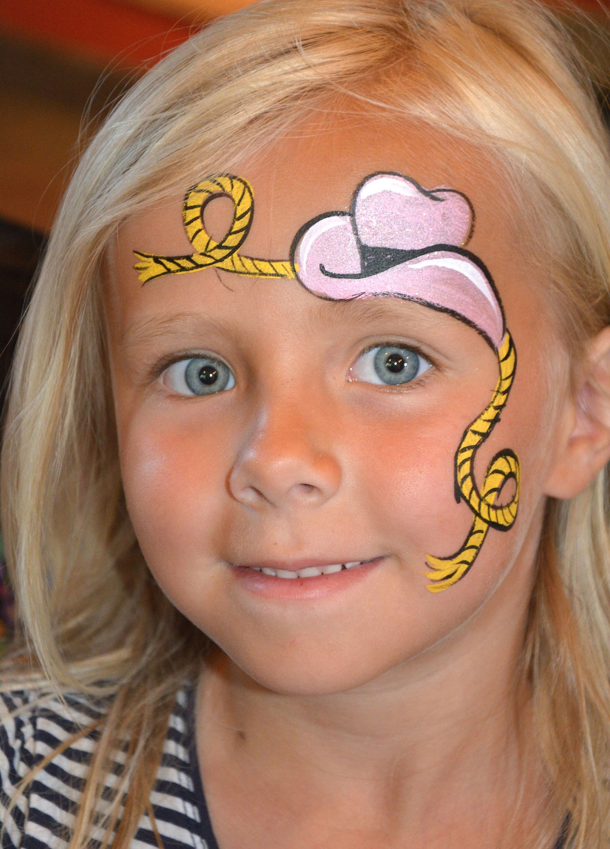 easy snake face paint